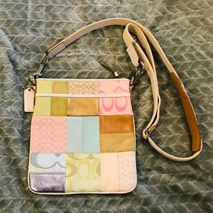 Coach // Multicolor patchwork crossbody
